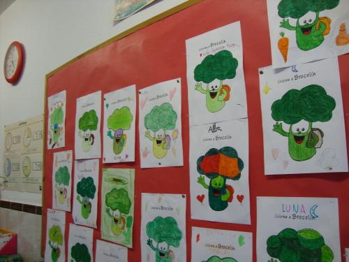Dibujos de Brocolín hechos por los niños de las Carmelitas