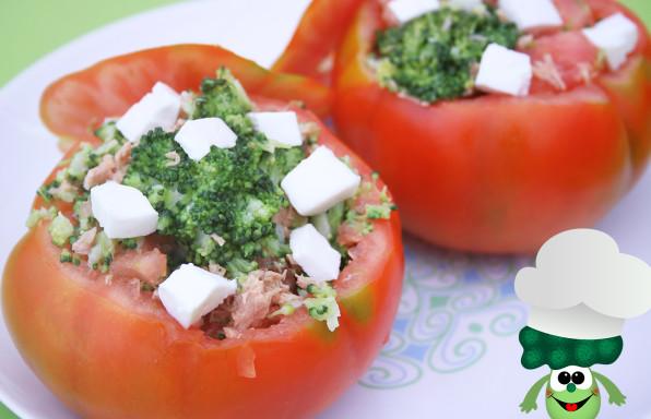 Receta tomates rellenos de brocoli -sintexto