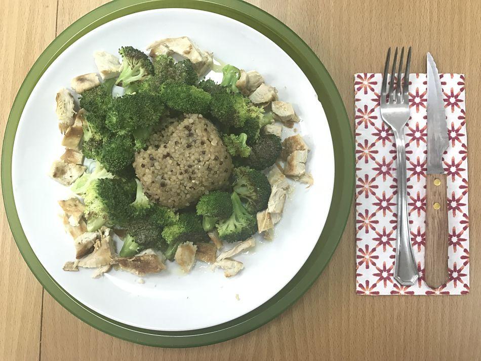 Quinoa con brócoli