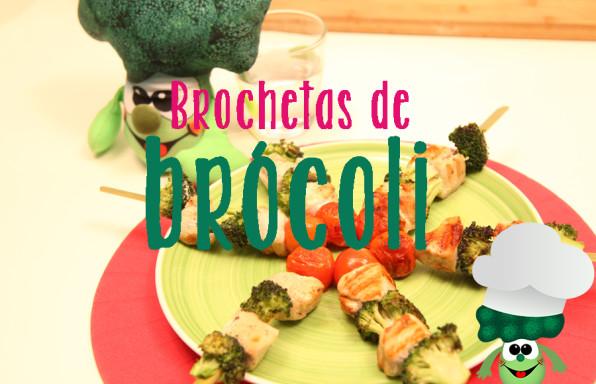 brochetas de brócoli
